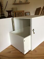 show budgie nest boxes with draw IN WHITE PLASTIC