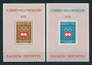 [105518] Paraguay 1963 Olympic Games Innsbruck 2 Souvenir Sheets MNH
