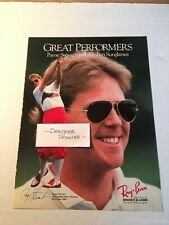 Payne Stewart Golf PGA Vintage 1988 Ray Ban Sunglasses Print Ad Advertisement