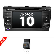 Obd2+For 2004-2009 Mazda 3 Android 10 Car Radio Dvd Gps Navigation Bluetooth 5.0