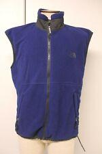 The North Face Men's Polyester Fleece Vest Full Zip Dark Navy Blue Large, EUC,