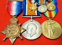 WW1 BRITISH ARMY 1914 STAR MEDAL GROUP CAPTAIN BENNETT 5TH SCOTTISH RIFLES