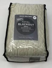 Darcy 84 Inch 100% Total Blackout Grommet Top Window Curtain Panel in Linen
