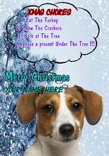 Jack Russell Terrier ptcc298 Christmas Xmas Card A5 Personalised Greetings Card