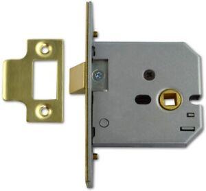 """UNION Assa Abloy 2677 Mortice Latch - 75mm (3"""") Brass -  J2677-PL-3.00"""