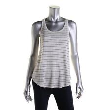 Lucky Brand Womens Ivory Striped Racerback Tank Top Shirt L NWT