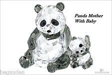 Swarovski Panda Mother With Baby Crystal Figurine # 5063690