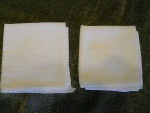 Men's White Pocket Square Hanky ~ 2 pack