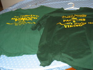 2 Vince Lombardi GREEN BAY PACKER Tee ShirtS Size Extra Large