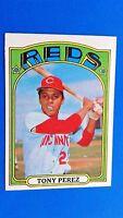 1972 Topps Baseball Tony Perez Cincinnati Reds HOF Card #80