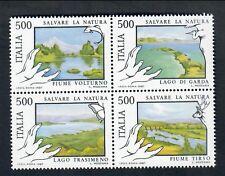 ITALIA 1987 salvaguardia della natura 500 lire x 4 blocco NUOVI ** fra.961