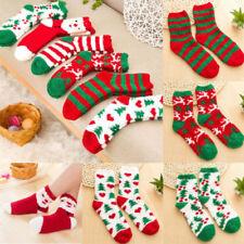 Christmas Socks Women Ladies Soft Fluffy Cosy Bed Socks Lounge Winter Warm Gift