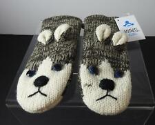 Knitwits Handmade Husky Dog Animal Mittens Youth/Adult (6+) GY20