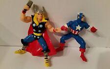 "AVENGERS - Marvel's Captain America & Thor 4"" Action Figures Toys Yolanda 1996"
