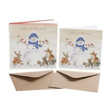 Set of 8 Gold Foiled Country Animal Christmas Cards - Wrendale Designs Xmas Card
