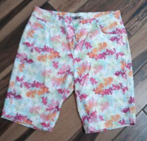 NWOT Crest jean bermuda stretch shorts multi size 19/20