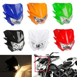 Universal Motorcycle Headlight Fairing Light For YAMAHA Street Fighter Dirtbike