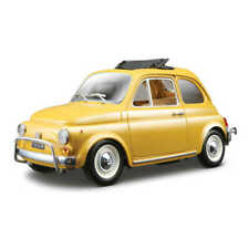 1:24 1968 Fiat 500 Diecast Model (Yellow)