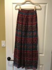 Abercrombie & Fitch New York multi color crinkle pleat maxi skirt size S
