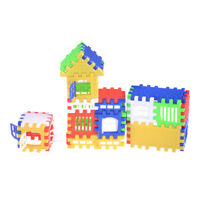 44pcs Baby Kids House Building Blocks Educational Learning Construction Toy  ME