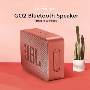 JBL GO 2 Wireless Bluetooth Speaker Portable IPX7 Waterproof Outdoor Black & Red