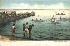 New Bedford MA Public Bathing Beach c1910 Postcard