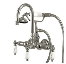 """Kingston Brass CC10T1 Vintage 3-3/8"""" Wall Tub Filler with Hand shower  ob1121"""