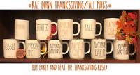 RAE DUNN Thanksgiving Mugs/Fall Pumpkin Latte Spice Queen Patch Love - Aug 2020