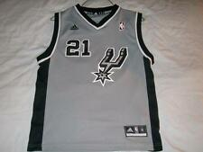 Tim Duncan 21 San Antonio Spurs NBA adidas Gray Jersey Boy's Medium 10-12 used