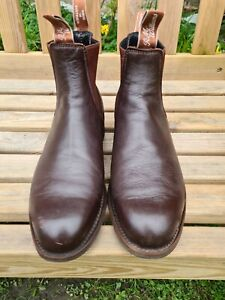 r.m. williams craftsman boots brown leather sz 9 uk