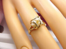 FW CULTURED PEARL BAROQUE NUGGET SHAPE IN CAGE STYLE 10K GOLD RING
