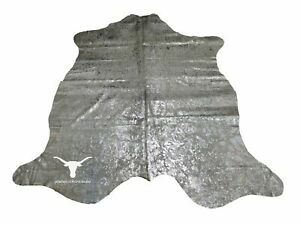 Acid Wash Silver Cowhide - ( 7 x 6.6 Ft)
