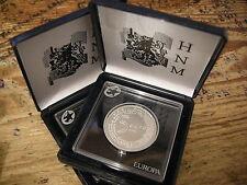 NEDERLAND 5 EUROMUNT 2004 EURO ZILVER IN CASSETTE HNM