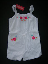 NWT Gymboree Floral Reef Size 6 White Floral Embroidered Gauze Romper Shorts
