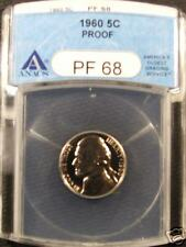 1960 PF-68 ANACS Jefferson Nickel