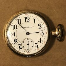 Burlington Special Pocket Watch, Grade 106, 16s, 19j, Gold Plated, 88 Grams,Runs