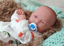 14'' Reborn Baby Boy Real Doll Full Body Vinyl Silicone Handmade Lifelike Toys