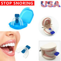 Stop Snoring Mouthpiece Sleep Apnea Guard Bruxism Anti Snore Grind Aid Tray
