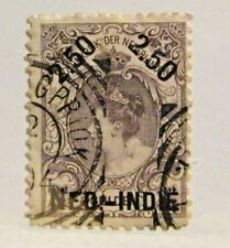 NETHERLANDS INDIES Scott #37a pf11 Θ used stamp, fine + 102 card