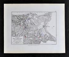 1855 Johnston Military Map Napoleon Battle of Bayonne France Britain Dec. 1813