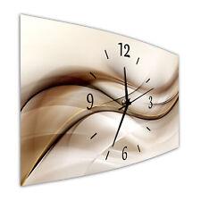 BM Wanduhr 44 cm x 22 cm  leises Uhrwerk Funkwanduhr Digital Art 9544-1 SZ