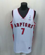 Toronto Raptors #7 Andrea Bargnani White Champion Jersey NBA Shirt Size Men's L