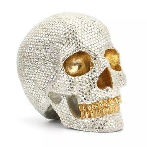 Silver Gold Sparkly Skull Head Home Decoration Ornament Decor Alt Gothic Bar