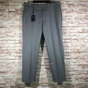 New Charles Tyrwhitt Slim Golf Pants Gray Men's Size 36x30 Pleated Non-Iron G22