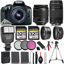 Canon EOS Rebel T6 DSLR Camera + 18-55mm Lens +Canon 75-300 III &MORE -64GB KIT