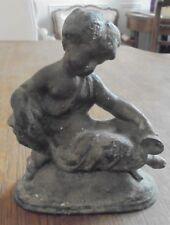 RARE BELLE ANCIENNE statue régule ange 13 cm