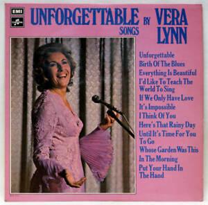 VERA LYNN Unforgettable Songs Vinyl LP EMI SCX 6500 UK 1972 EX-/VG+