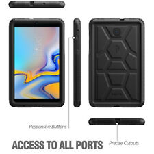 For Galaxy Tab A 8.0 (2018) SM-T387 Poetic Grip Protection Silicone Case Black
