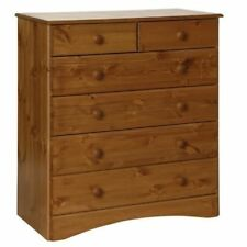 Scandi 2+4 6 Drawer Unit Chest Of Drawers Antique Pine Bedroom Furniture