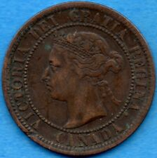 Canada 1891 SD SL 1 Cent One Large Cent Coin - Very Fine (scratches)